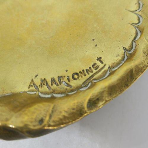 Albert MARIONNET (1852 1910) Vide poche en bronze doré à décor de chardon en sem…