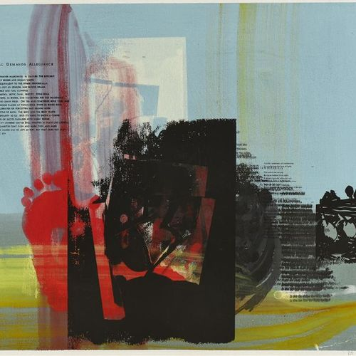 "Peter Nadin (né en 1954) ""Study for view I"", 1988 Sérigraphie, acrylique et aqua…"