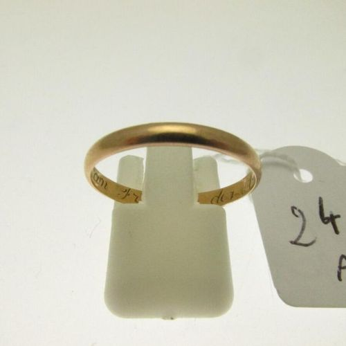 1 gold wedding ring, traces of engravings, hunchbacked TDD 58 1.7g AC