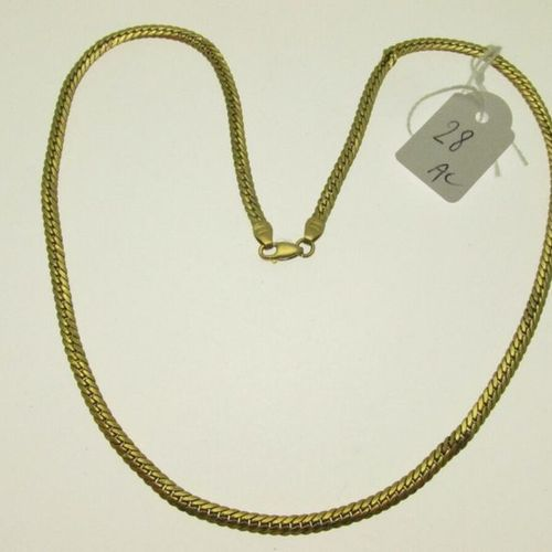 1 necklace english stitch gold, humpbacked, accident 8,7g AC