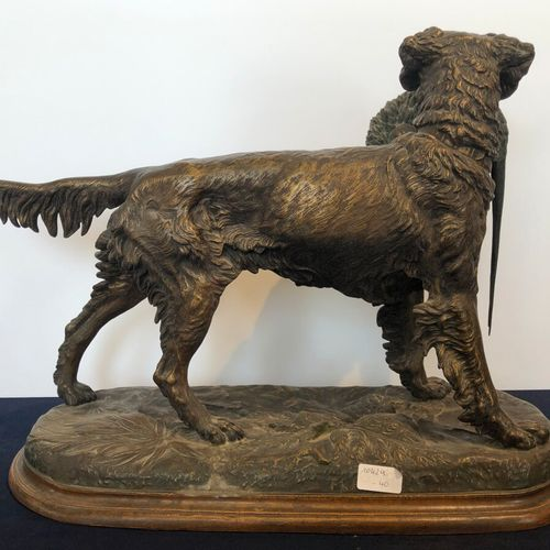 "Jules MOIGNIEZ (1835 1894)  ""Spaniel at a standstill"". Proof in patina regula.  …"