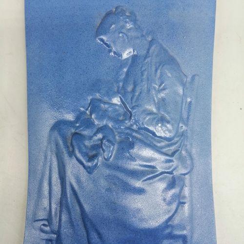 "Alexandre CHARPENTIER (1856 1909) & MULLER (ceramist)  ""Maternity"", 1887. Rectan…"