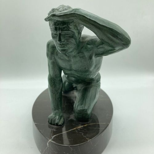 """Jean DE RONCOURT (in the style of)  """"Athlete"""".  Proof in bronze with an antique …"""