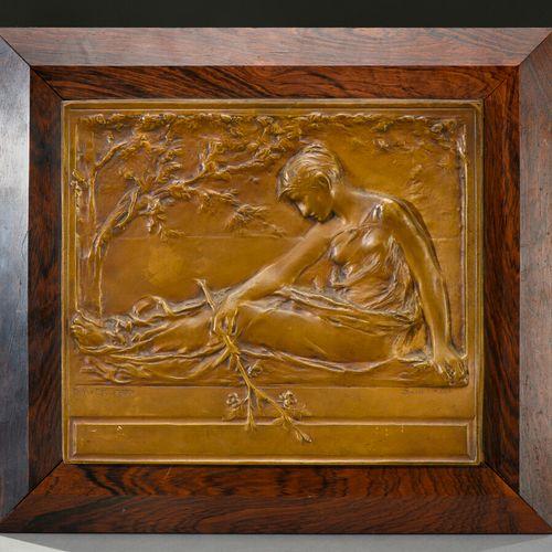 Charles VAN DER STAPPEN (1843 1910) & SUSSE FRERES (publisher)  Bronze bas relie…