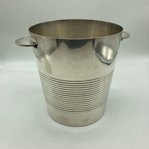 "Luc LANEL (1893 1965) & MAISON CHRISTOFLE (publisher)  Champagne bucket ""Vulcain…"
