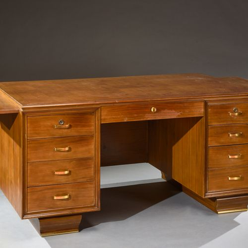 1930'S WORK  Set including a desk and a bookcase.    Wooden desk with rectangula…