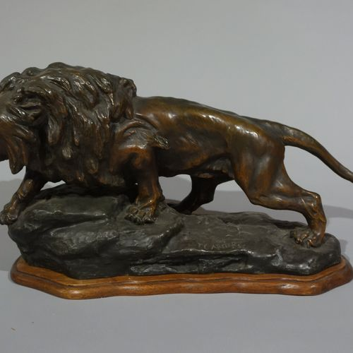 """Thomas François CARTIER (1879 1973)  """"Roaring Lion"""". Proof in regula with green …"""
