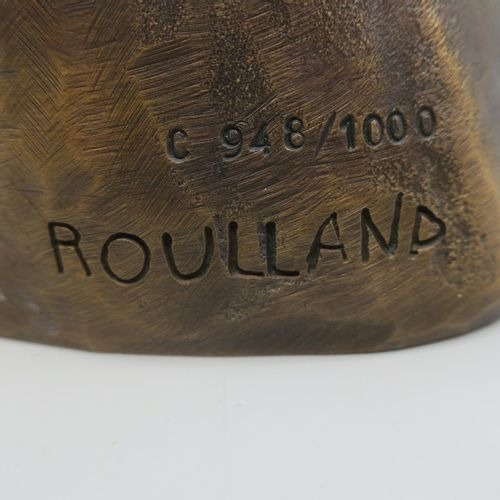 "Jean ROULLAND (born in 1931)  ""Hippocrate"".  Proof in bronze with a green shaded…"