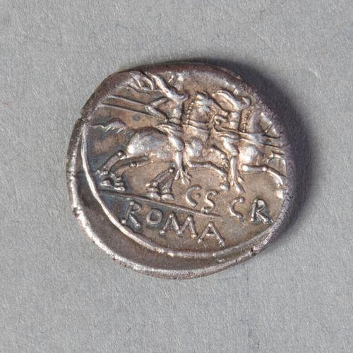 REPUBLIQUE ROMAINE  SCRIBONIA : DENIER frappé à ROME en 154 av JC 3gr83 CR 201, …