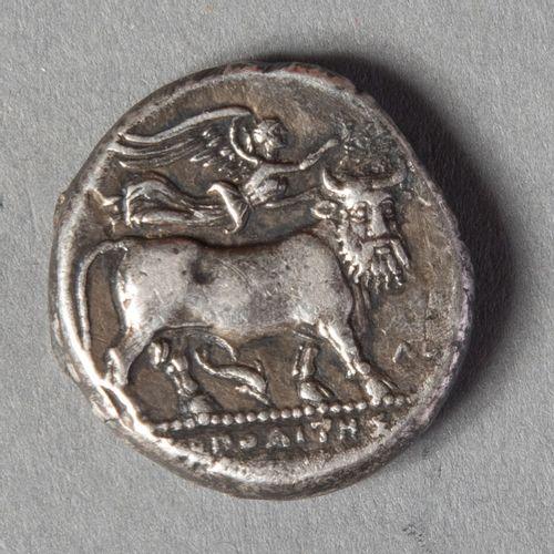 CAMPANIE  NEAPOLIS : DIDRACHME en argent avec la nymphe PARTHENOPE (326 290 )  7…