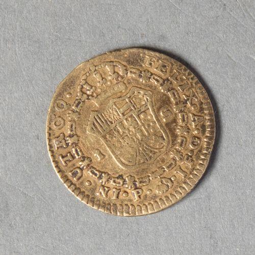 COLOMBIE  CHARLES IV. Un escudos 1808 popayan  B+