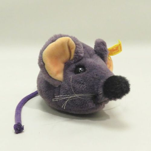 STEIFF. Plush mouse. 12 x 17 x 10 cm. Original label.