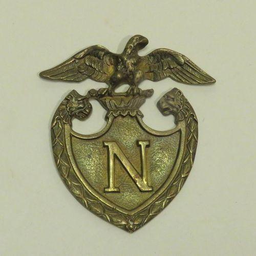 """Napoleon"""" bronze plate/insignia (element). 10 x 9 cm."""