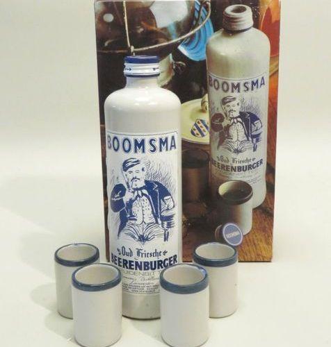 Boosma, Oud Friesche, Kruidenbitter. 1 Stoneware bottle 50 cl in original cardbo…