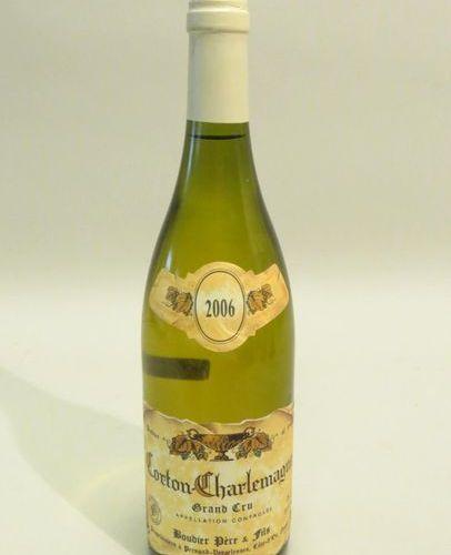 Corton Charlemagne, Boudier Père & Fils, white, 2006 vintage. 1 BTL (good level)…