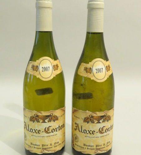Aloxe Corton, Boudier Père & Fils, White, Burgundy, 2007 vintage. 2 BTLS (Good L…