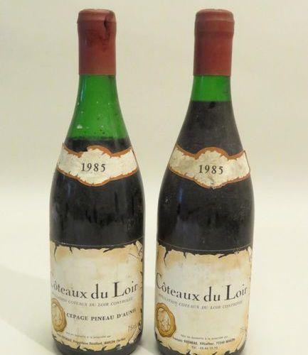 Côteaux du Loir, 1985 vintage. 2 BTLS (1 level LB; 1 level H.Ep.; etiq. Sales; 1…