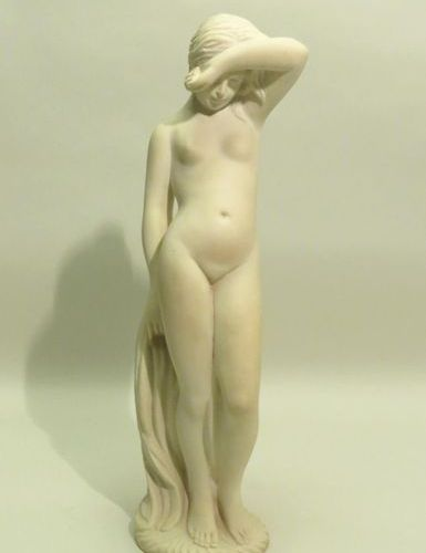 Young lady. Reconstituted marble powder sculpture. Xxth century. Height : 49 cm …