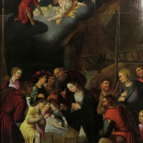 Antwerp school around 1600, surrounded by Louis de Caullery.  Adoration of the s…