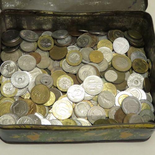 Lot de pièces de monnaies diverses (France et étranger).