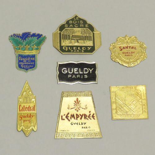 Lot d'étiquettes Gueldy, dont « L'empyrée », 2 étiquettes « Le bois sacré »,  ét…