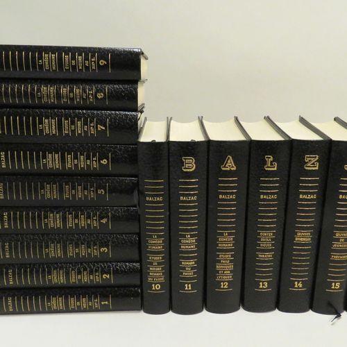 L'ŒUVRE DE BALZAC, vol 1 à 16 (complet), In 8, reliure souple d' éditeur en skiv…