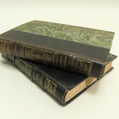 Lot de deux livres, reliures demi chagrin, dos à 4 nerfs, In 8, comprenant : Fra…