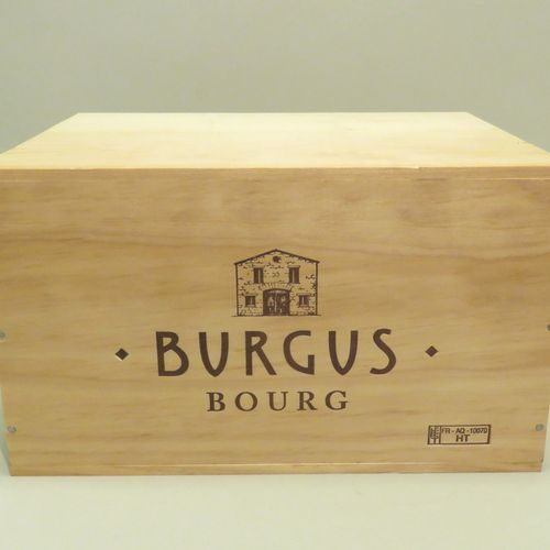 Burgus, Grand Cru, Bourg, millésime 2016. CBO de 6 BTLS