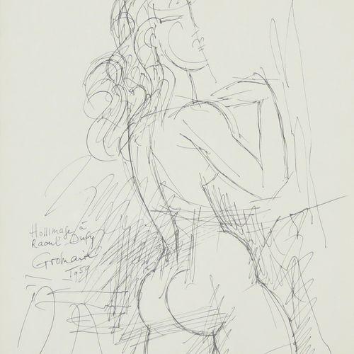Marcel GROMAIRE (1892 1971). Hommage à Raoul DUFY, 1959. Lithographie sur papier…