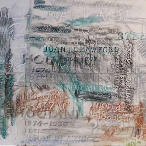 CINERT ? . Composition, 1988. Pastel sur papier, signé et daté en bas à droite. …