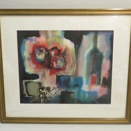 Frank CHABRY (1916 1979). Composition. Aquarelle sur papier, signée en bas à dro…