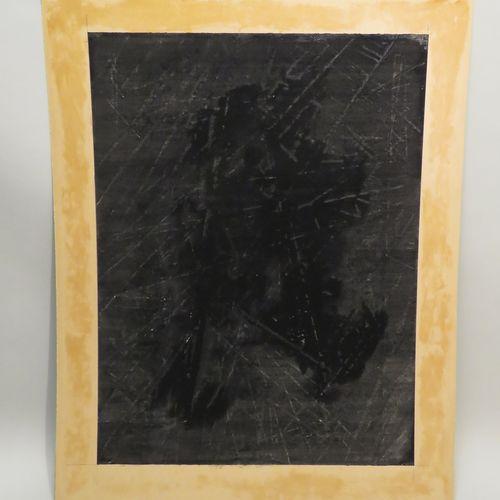 Attribué à François WEIL (né en 1964). Composition. Technique mixte sur papier n…