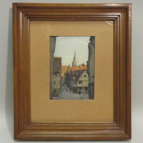 Jean Charles Adrien DOLLFUS (1891 1983). Village de Tübingen, Allemagne, 1949. A…