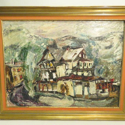 Zygmunt SEROKA (1né en 1931). Composition, 1961. Huile sur toile, signée et daté…