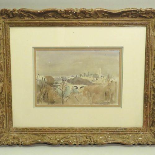 Pierre Eugène CLAIRIN (1897 1980). Paysage. Mine de plomb et aquarelle sur papie…