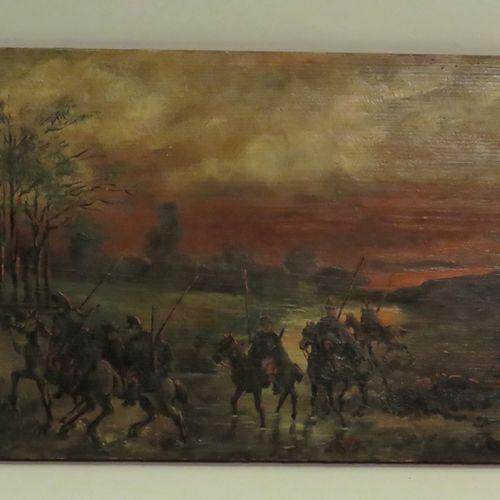 AMAND (XIX Xxème) ?. Ière Guerre Mondiale (1914 1918), 1914. Paire d'huiles sur …