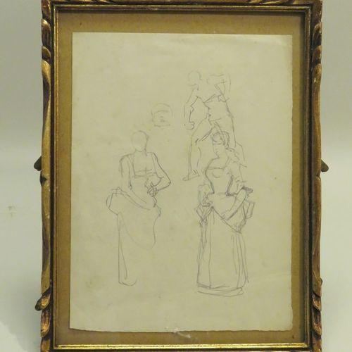 Attribué à Henry SOMM (1844 1907). Etude. Mine de plomb sur papier, non signée. …