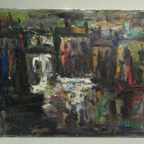 Elemer VAGH WEINMANN (1906 1990). Composition. Huile sur toile, signée en bas à …