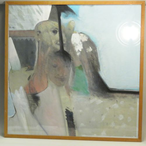 Eric KENGEN (né en 1952). Composition, 1987. Pastel et gouache sur papier, signé…