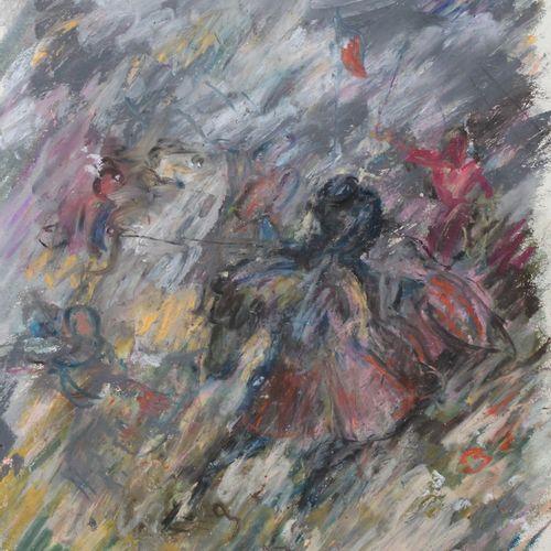 """Pierre GOGOIS (né en 1935), """"Bataille de Guinegatte, journée des éperons"""". Paste…"""