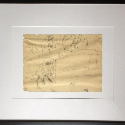 Jules PASCIN (1885 1930). La Plaidoirie. Mine de plomb sur papier, signée du cac…