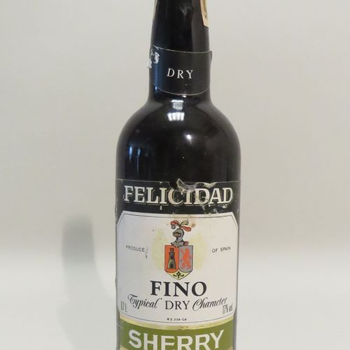 Sherry, Fino Typical Dry Character, Felicidad, Jerez, Spain. 1 Bottle of 70 cl.