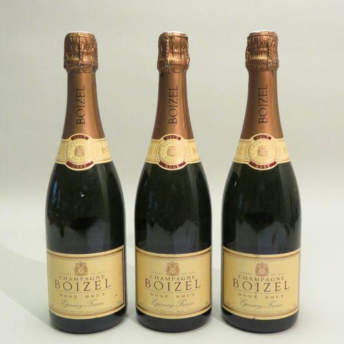 Boizel香槟,玫瑰红,Brut,非年份。3个BTLS。