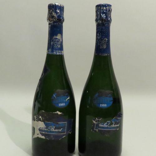 Champagne Leclerc Briant, Divine, millésime 1988. 2 BTLS.