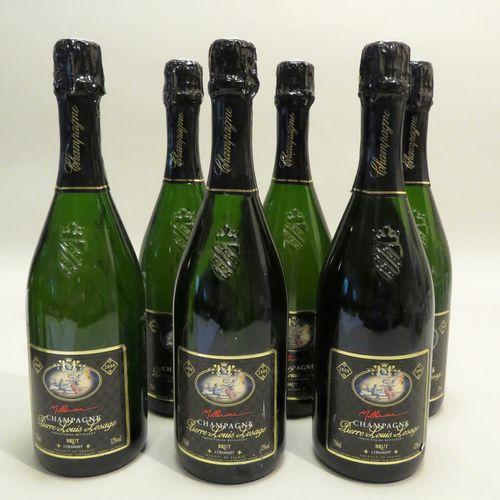 Champagne Pierre Lesage, Brut, millésime 2000. 6 BTLS.
