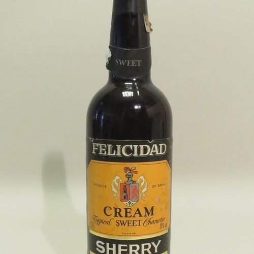 Sherry, Cream Typical Sweet Character, Felicidad, Jerez, Espagne. 1 Flacon de 70…