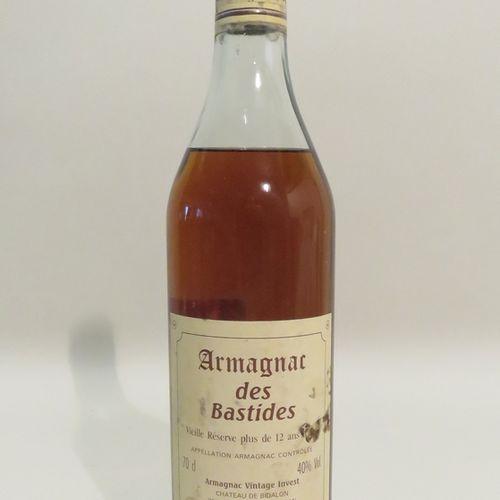 Armagnac des Bastides, Vieille Réserve plus de 12 ans, Château de Bidalon. 1 Fla…
