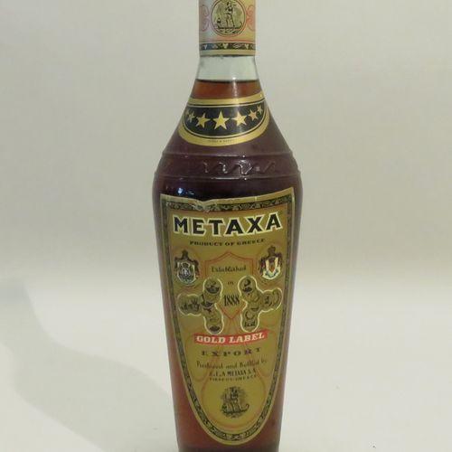 Metaxa, Gold Label, Export, Greece. 1 Bottle of 72 cl.