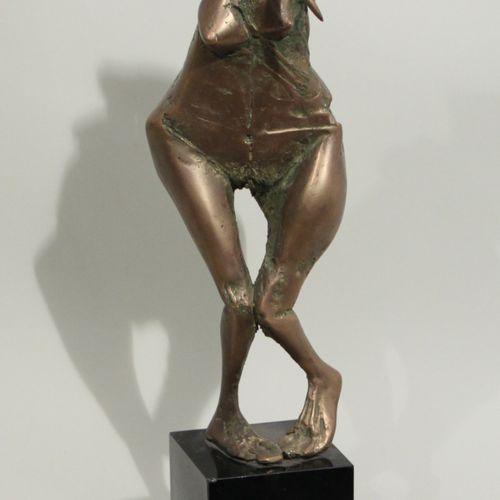 """VEJDI RACHIDOV (né en 1951). """"La femme Minotaure"""". Bronze à patine médaille, sig…"""