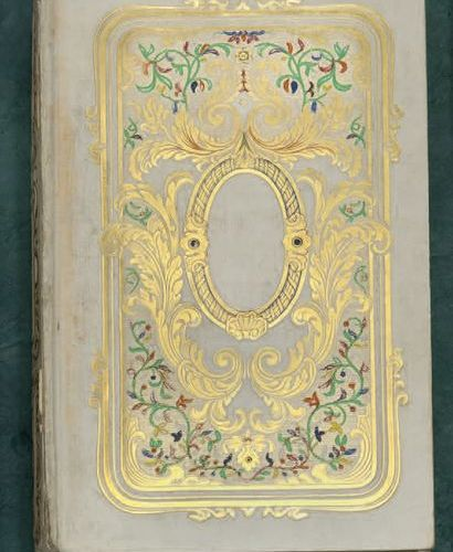 ALMANACHS. Set of 9 volumes in 12, printed or embossed paperboard, one in moire,…